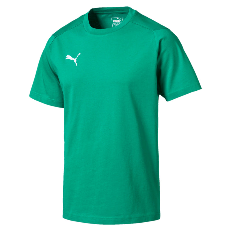 LIGA Casuals póló Pepper Green-Puma White - Teamsport & Lifestyle