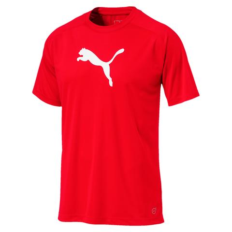 LIGA Sideline póló Jr Puma Red-Puma White - Teamsport & Lifestyle