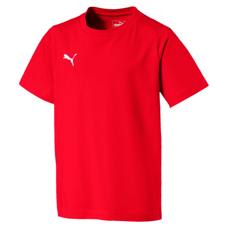 LIGA Casuals póló Jr Puma Red-Puma White - Teamsport & Lifestyle