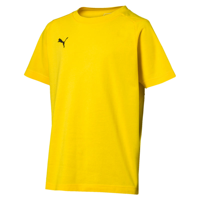LIGA Casuals póló Jr Cyber Yellow-Puma Black - Teamsport & Lifestyle