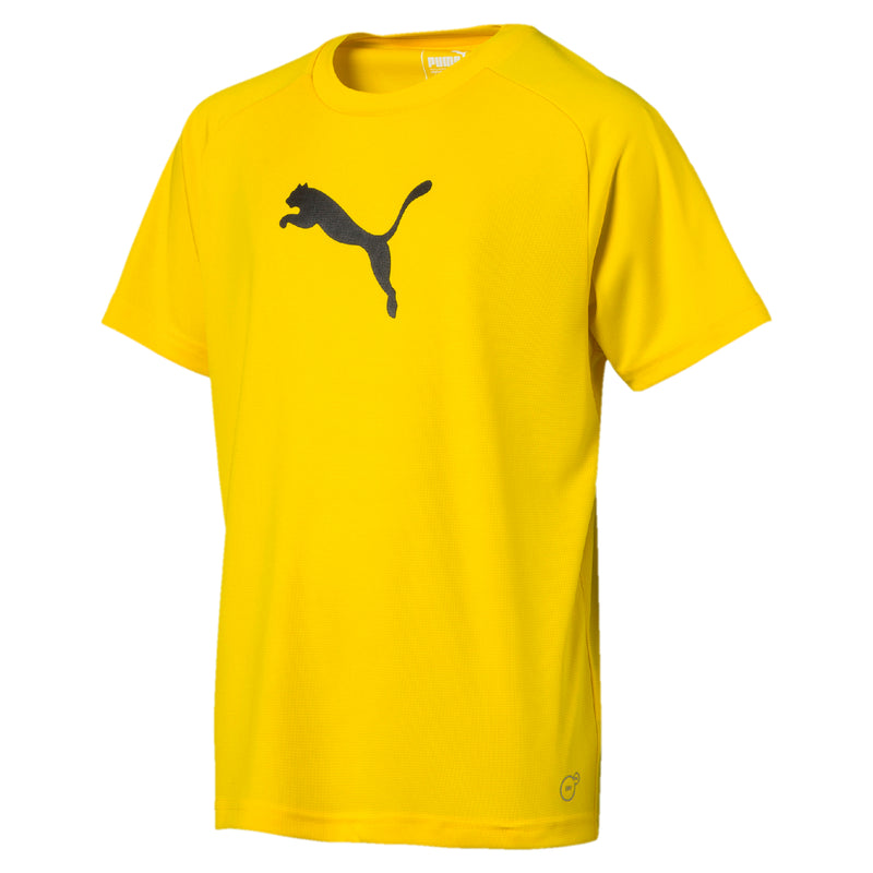 LIGA Sideline póló Jr Cyber Yellow-Puma Black - Teamsport & Lifestyle