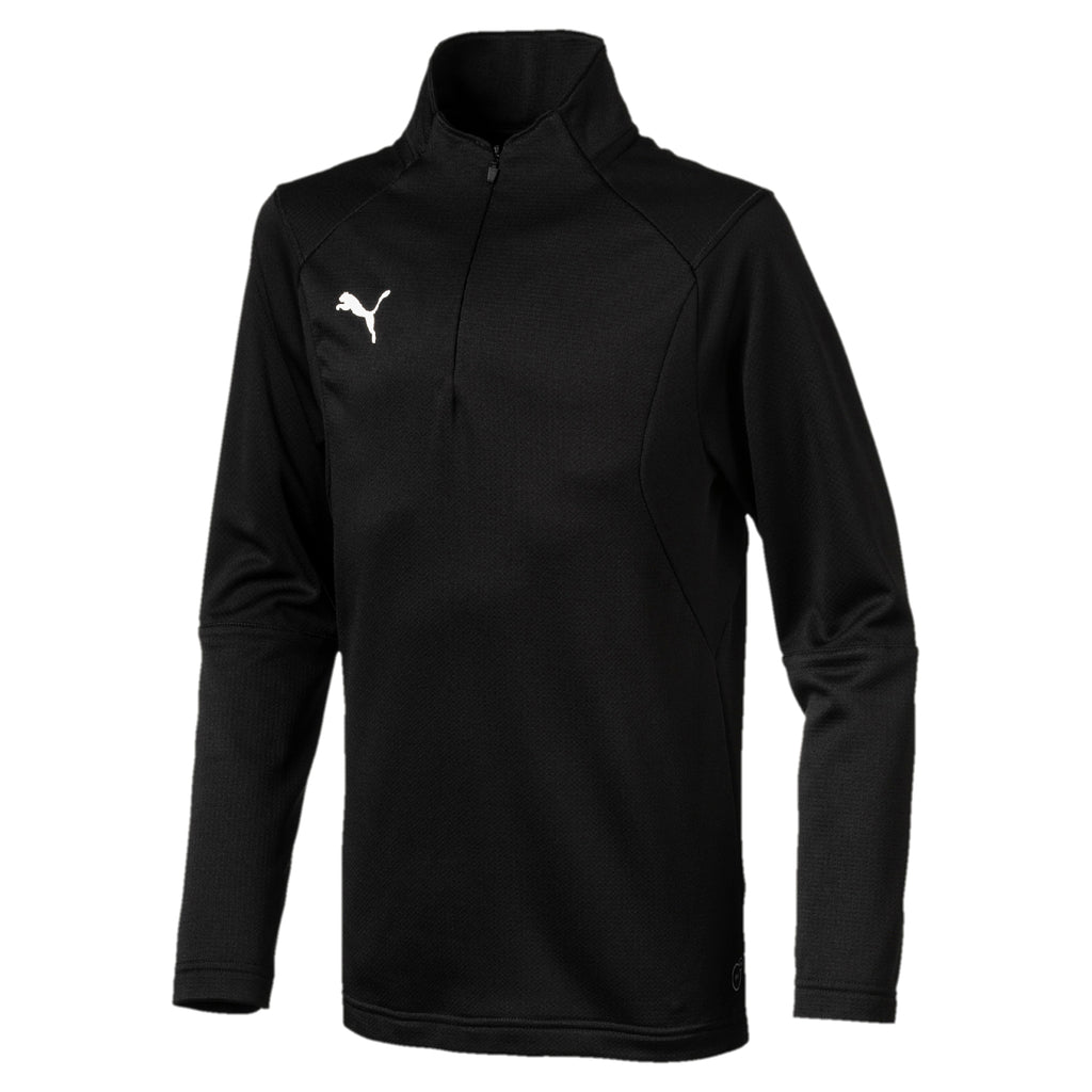 LIGA Training 1 4 Zip Top Jr pulóver Puma Black-Puma White