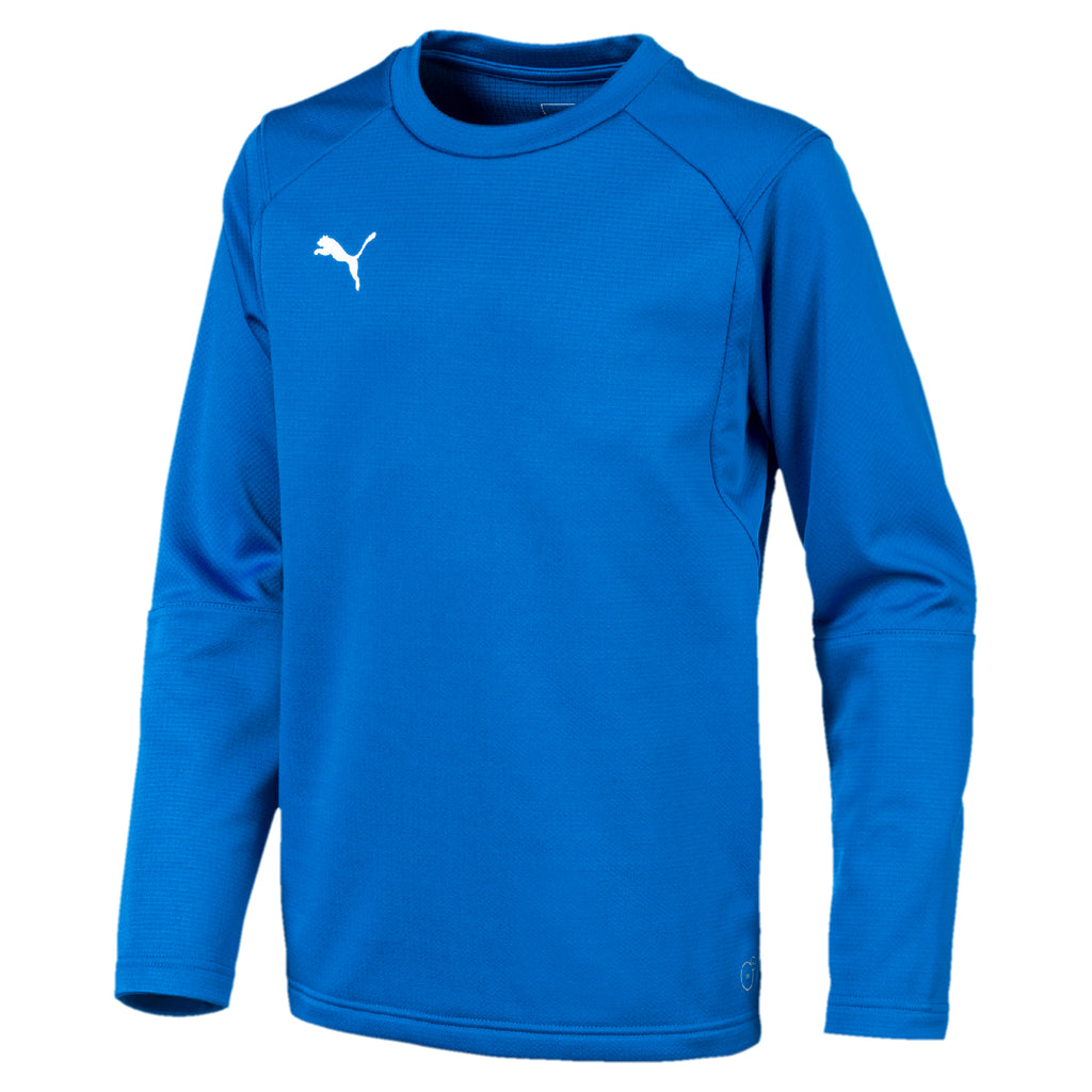 LIGA Training Sweat Jr pulóver Electric Blue Lemonade-Puma White