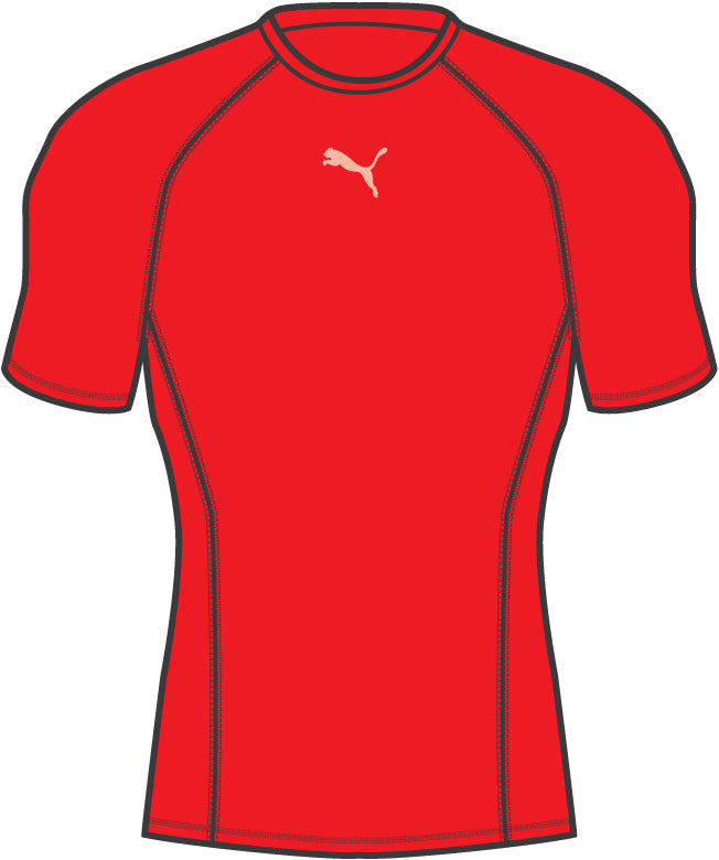 LIGA Baselayer póló SS Puma Red - Teamsport & Lifestyle