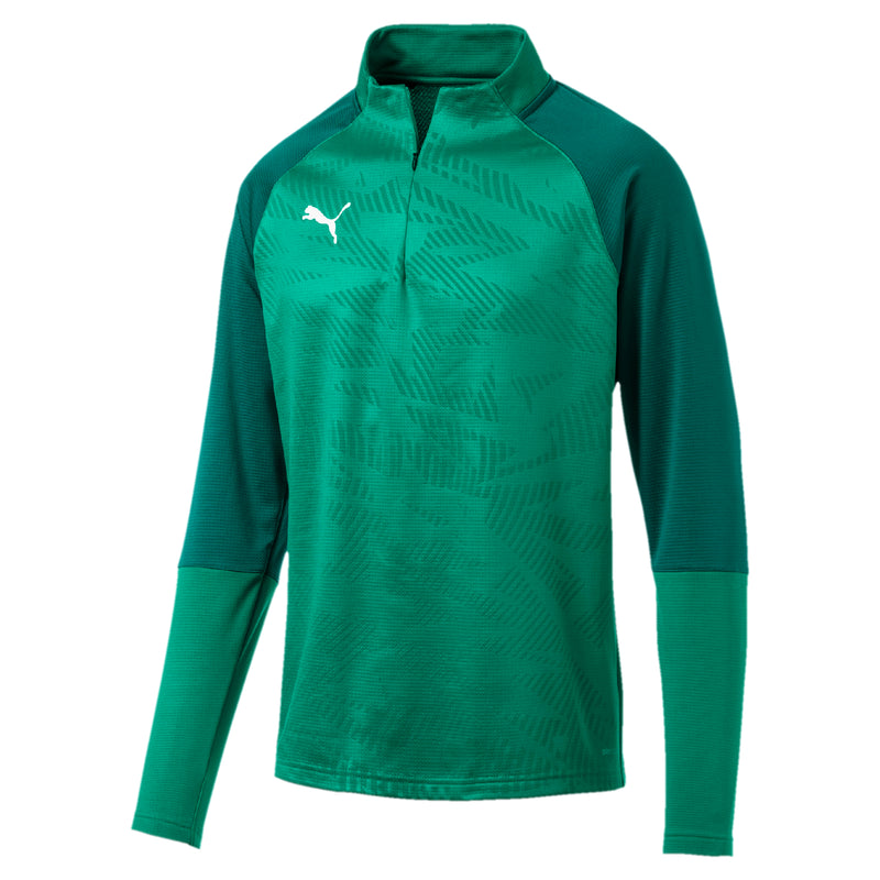 CUP Training 1 4 Zip T Core pulóver Pepper Green-Alpine Green