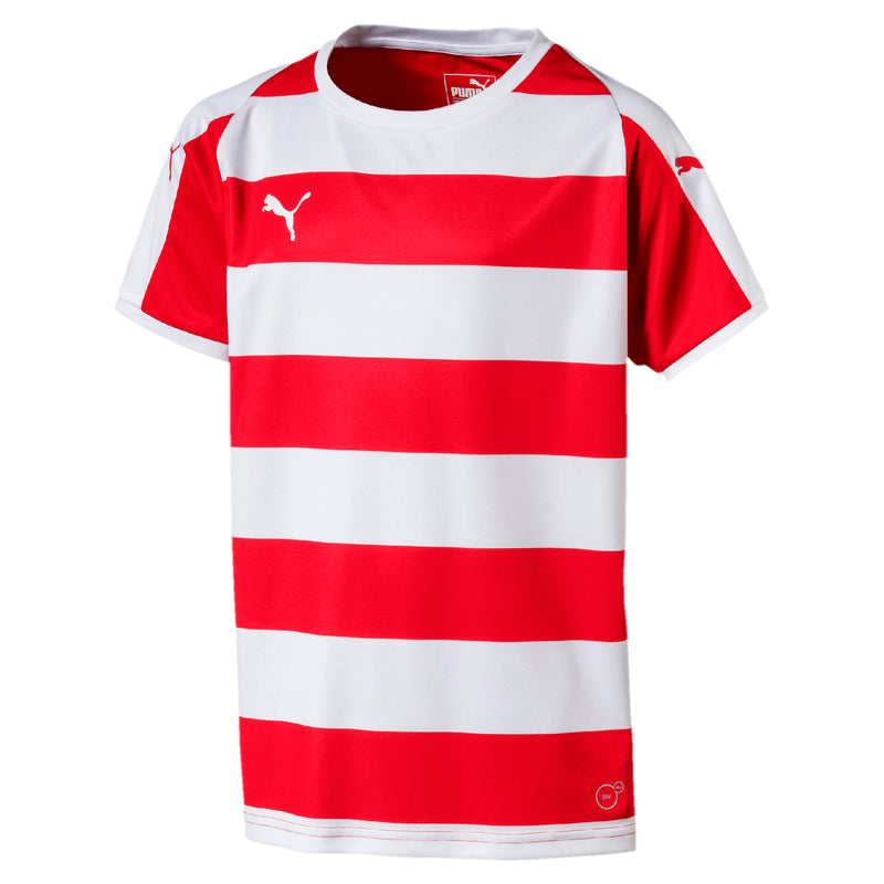 LIGA Jersey Hooped póló Jr Puma Red-Puma White - Teamsport & Lifestyle