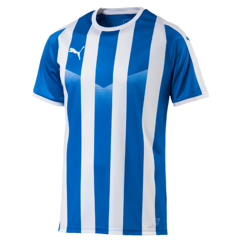 LIGA Jersey Striped póló Electric Blue Lemonade-White