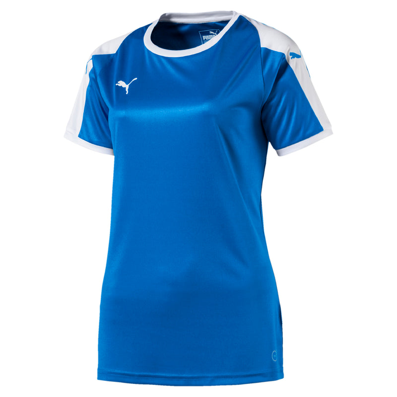 LIGA Jersey W póló Electric Blue Lemonade-White - Teamsport & Lifestyle