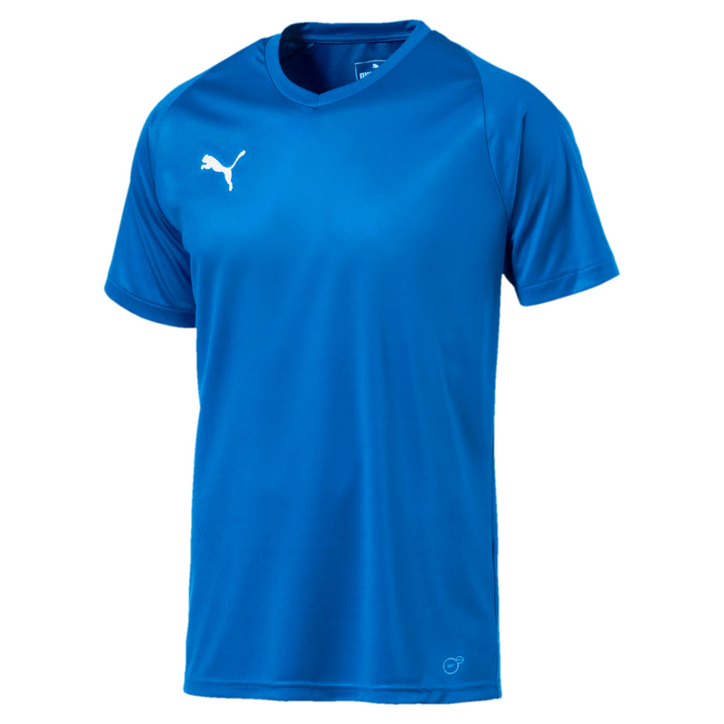 LIGA Jersey Core póló Electric Blue Lemonade-White - Teamsport & Lifestyle