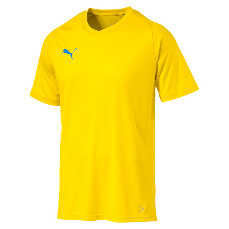 LIGA Jersey Core póló Cyber Yellow-Elec.Blue - Teamsport & Lifestyle