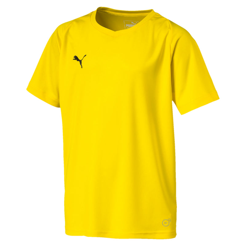 LIGA Jersey Core Jr póló Cyber Yellow-Puma Black - Teamsport & Lifestyle