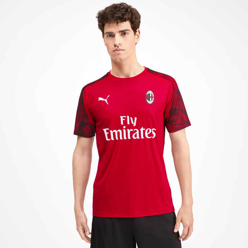 AC Milan Training Jersey SS With Sponsor Logo Tango Red -Puma Black - Teamsport & Lifestyle