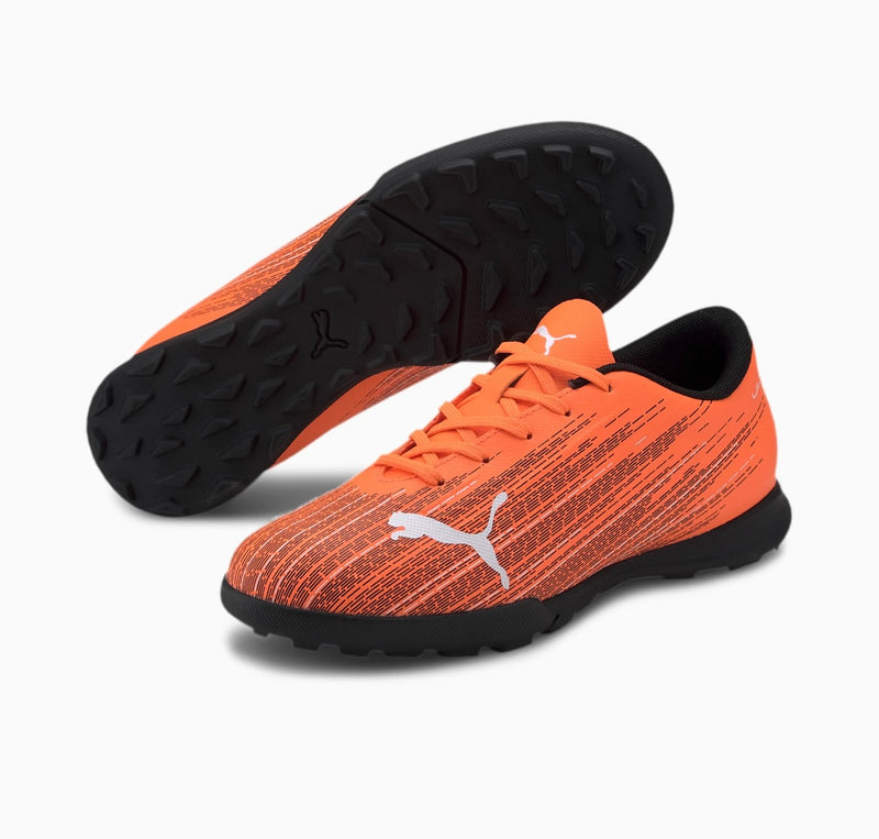 ULTRA 4.1 TT Jr. football cipő műfűre Shocking Orange-Puma Black