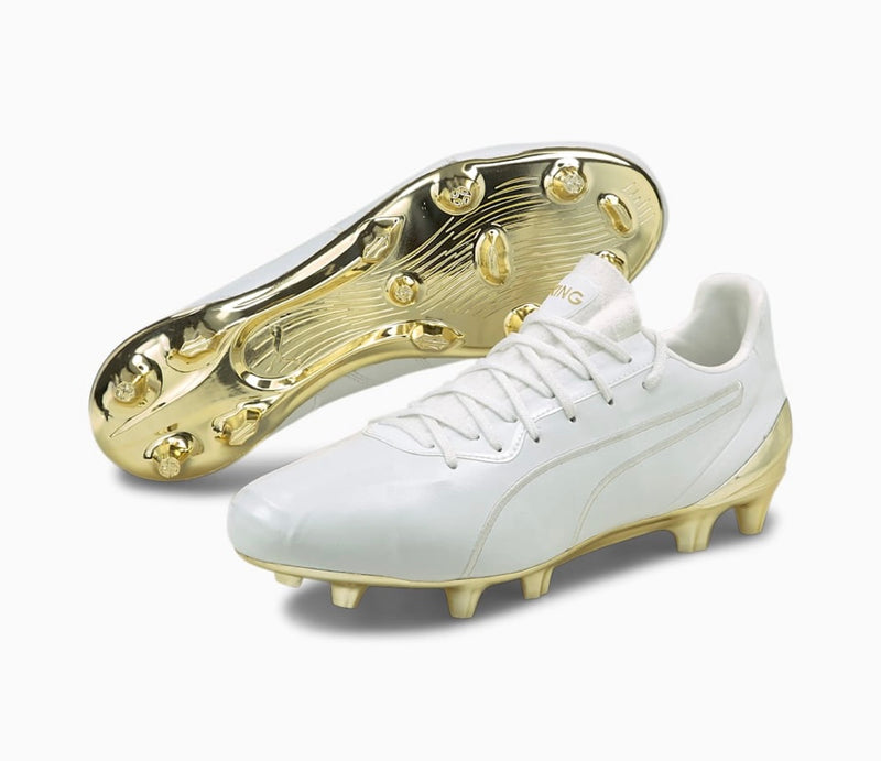 PUMA KING PLATINUM FG AG football cipő Puma White-Puma Gold