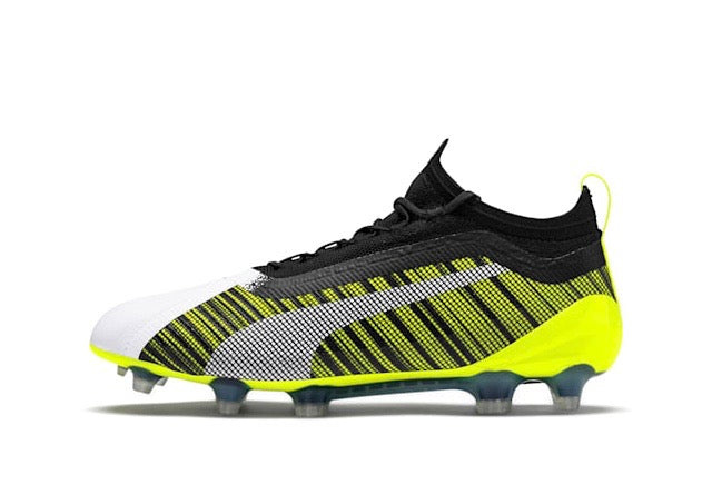 PUMA ONE 5.1 evoKNIT FG AG football cipő Puma White-Puma Black-Yellow Alert - Teamsport & Lifestyle