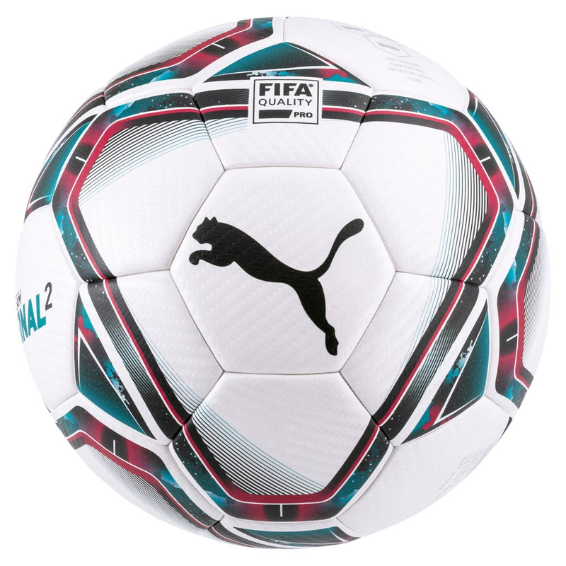 teamFINAL 21.2 FIFA Quality Pro focilabda Puma White-Rose Red-Ocean Depths-Puma Black-Omphalodes - Teamsport & Lifestyle