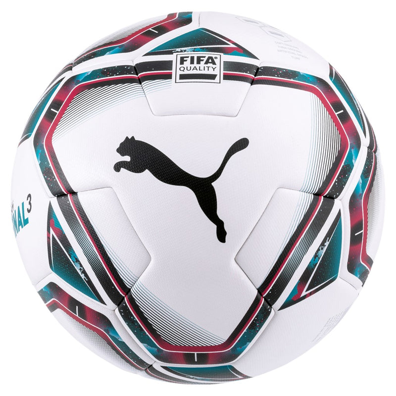 teamFINAL 21.3 FIFA Quality focilabda Puma White-Rose Red-Ocean Depths-Puma Black-Omphalodes - Teamsport & Lifestyle