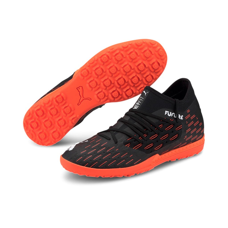FUTURE 6.3 NETFIT TT football cipő műfűre Puma Black-Puma White-Shocking Orange