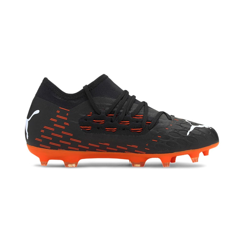 FUTURE 6.3 NETFIT FG AG Jr. football cipő Puma Black-Puma White-Shocking Orange