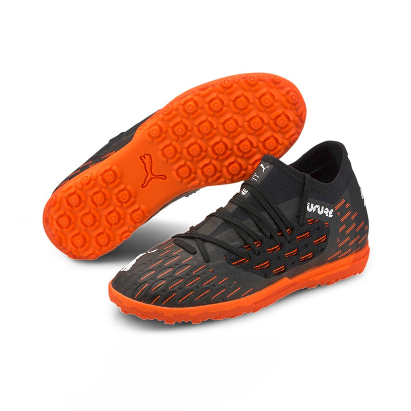 FUTURE 6.3 NETFIT TT Jr. football cipő műfűre Puma Black-Puma White-Shocking Orange