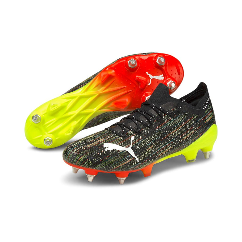 ULTRA 1.2 MxSG football cipő éles Puma Black-Puma White-Yellow Alert