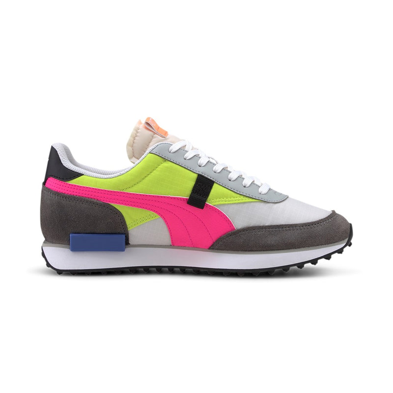 FUTURE RIDER PLAY ON sneaker cipő Puma White-CASTLEROCK-Yellow Alert - Teamsport & Lifestyle