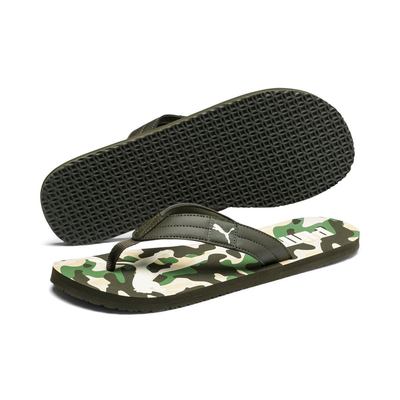 PUMA Cozy Flip Rebel ffi papucs Camo Forest-White-Green - Teamsport & Lifestyle