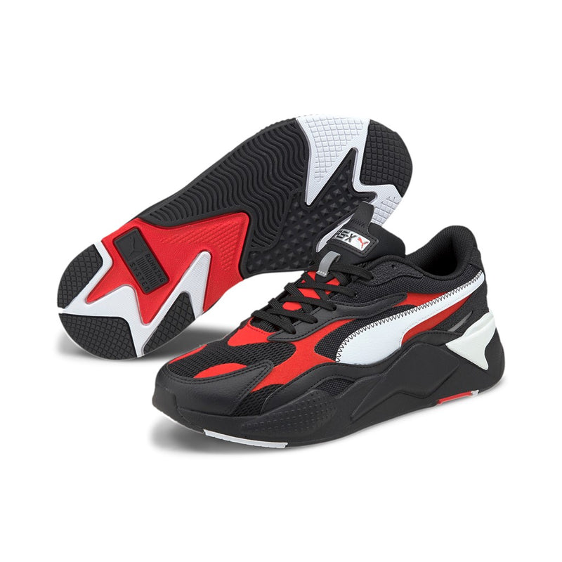 RS-X3 Hard Drive férfi sneaker cipő Puma Black-Poppy Red