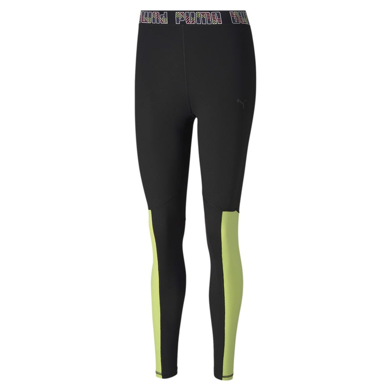 Logo Elastic 7 8 Tight női fitness nadrág Puma Black-Bubblegum