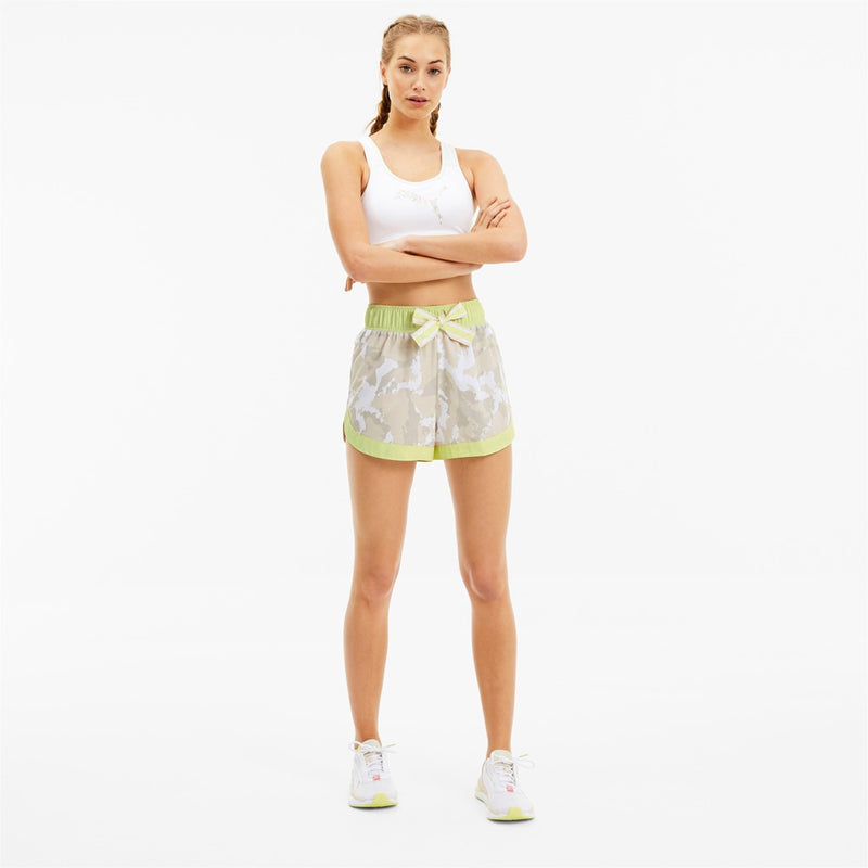 The First Mile Woven short női rövid nadrág Sunny Lime-Camo Prt. - Teamsport & Lifestyle