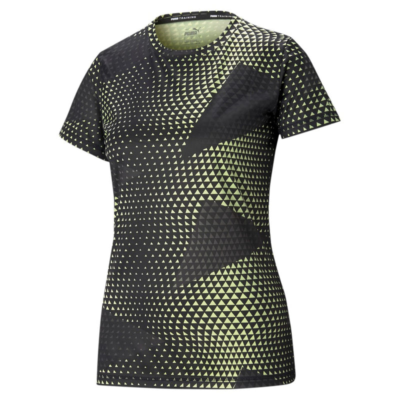 Performance AOP SS Tee női fitness felső SOFT FLUO YELLOW-AOP print