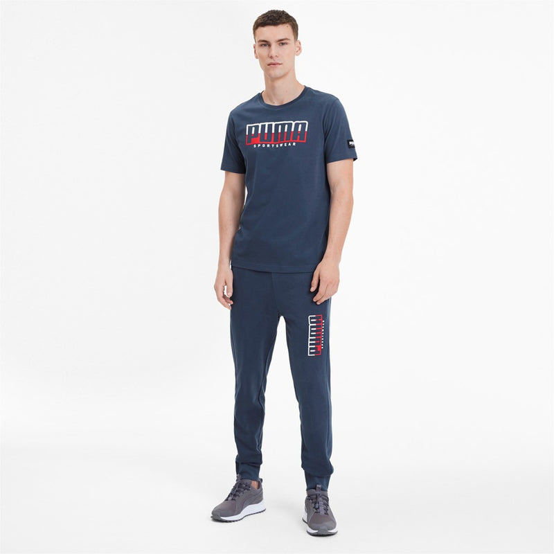 ATHLETICS Tee Big logó férfi Puma póló Dark Denim - Teamsport & Lifestyle
