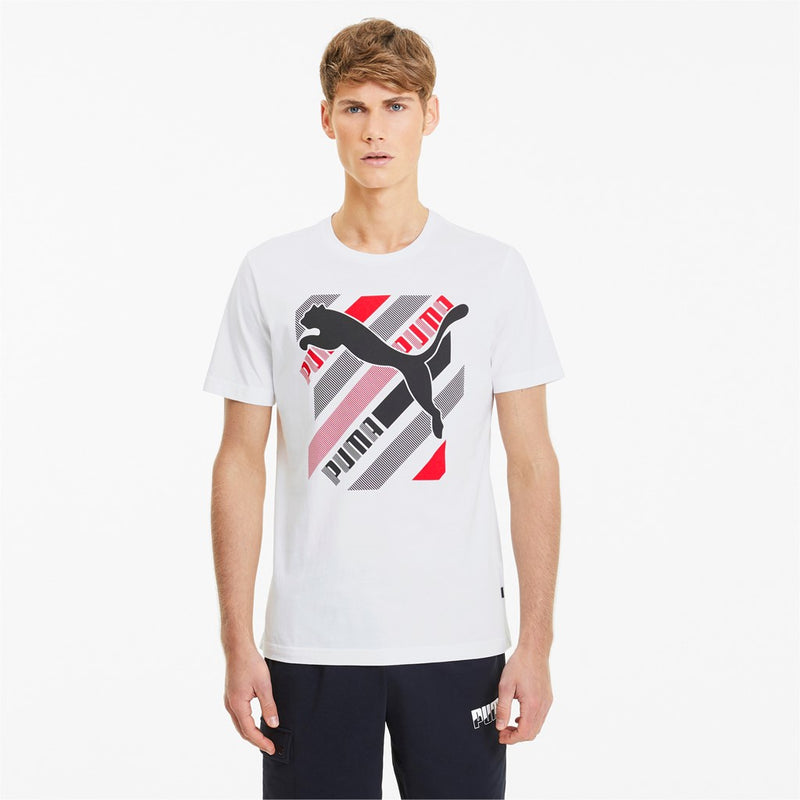 Cat Brand Graphic Tee férfi póló Puma White - Teamsport & Lifestyle