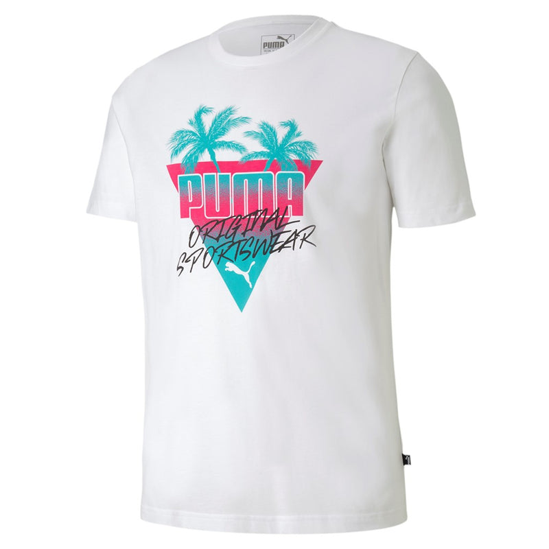 Summer Palms Graphic Tee férfi póló Puma White - Teamsport & Lifestyle