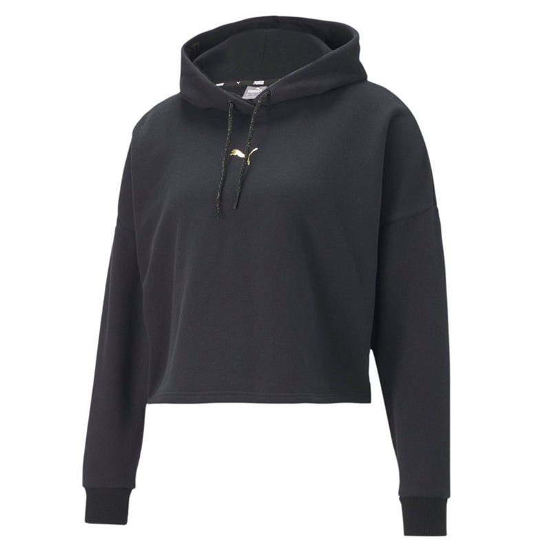 Metallic Nights Hoodie női pulóver Cotton Black