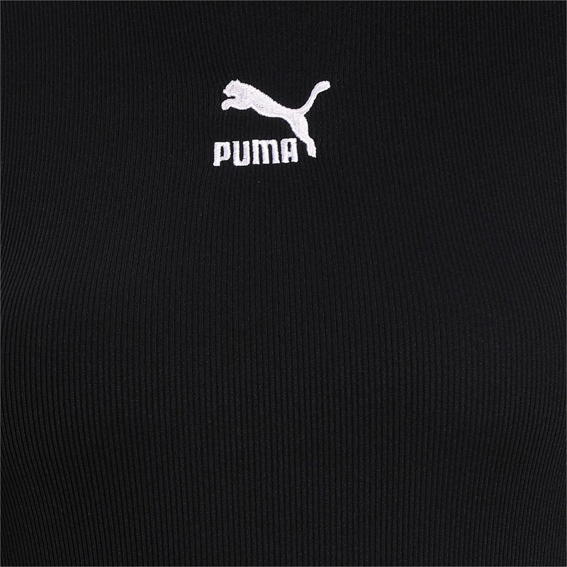 Classics T7 Shortsleeved Tight Jumpsuit női fitness ruha Puma Black
