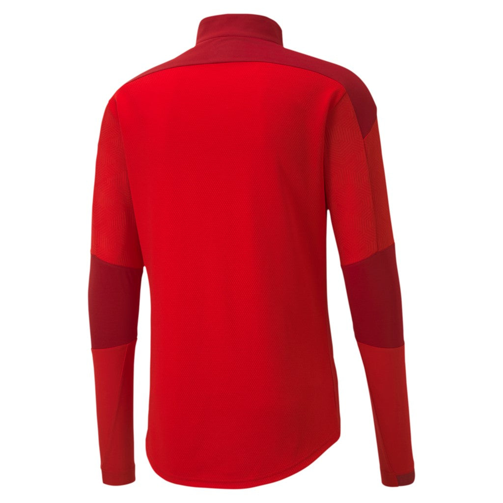 teamFINAL 21 Training 1 4 Zip Top Puma Red-Chili Pepper - Teamsport & Lifestyle