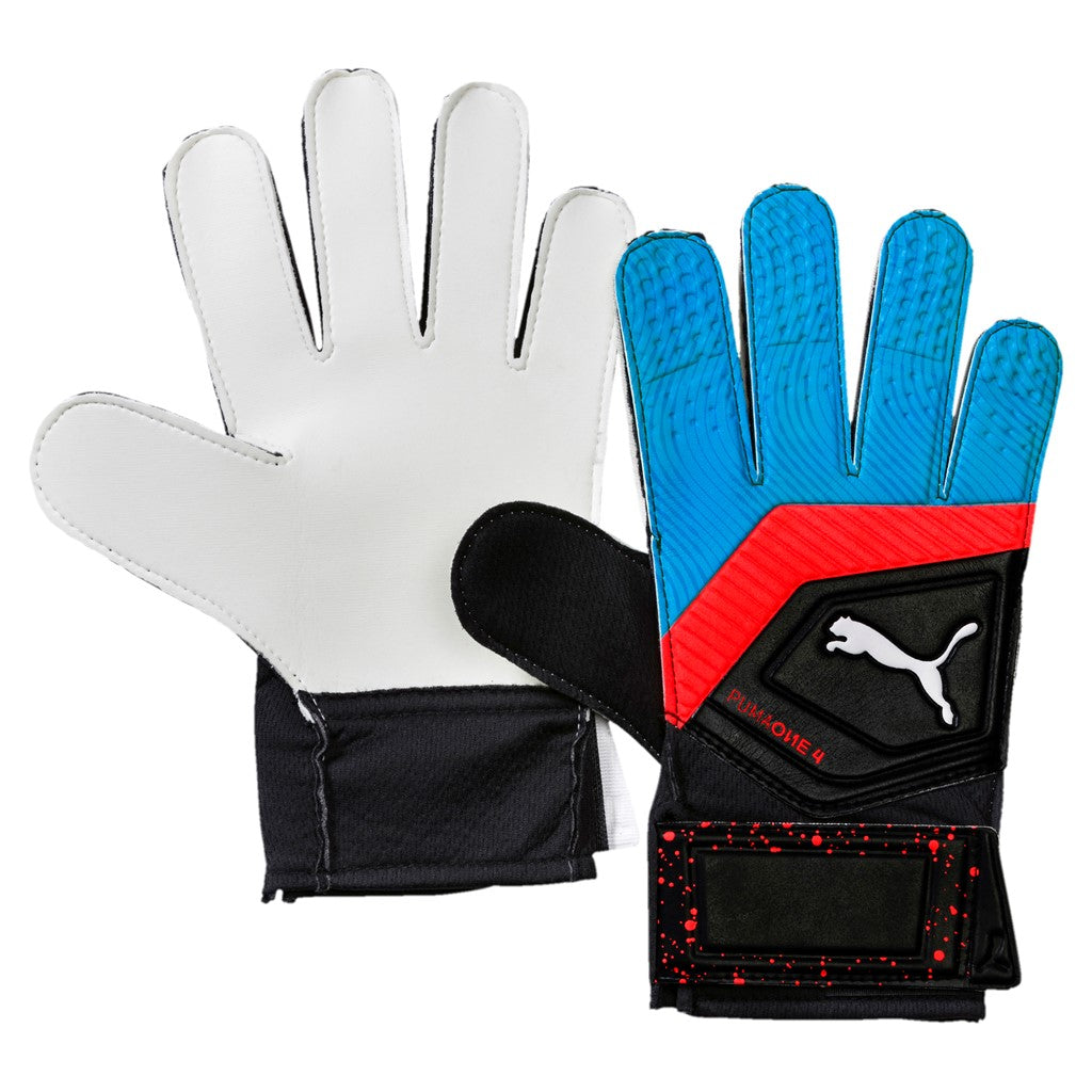 8cf4dd64e7 Puma ONE Grip 19.4 Junior kapus kesztyű Puma Black-Bleu Azur-Red Blast