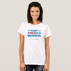 Keep America Grateful Women's T-shirt (White and Grey)