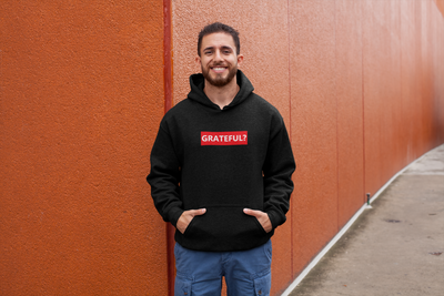 Men's Black Grateful Hoodie