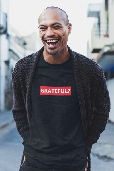 Men's Black Grateful T-shirt