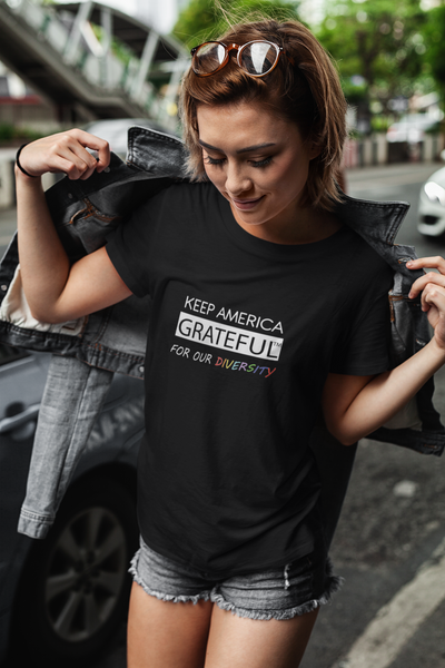 Grateful T-Shirt Multi Color Diversity Short-Sleeve Unisex T-Shirt