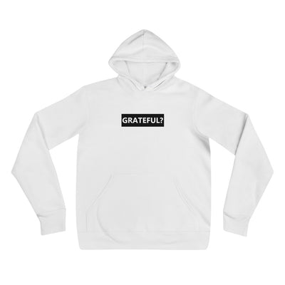 Men's White Grateful Hoodie
