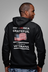 Keep America Grateful Veteran Black Hoodie