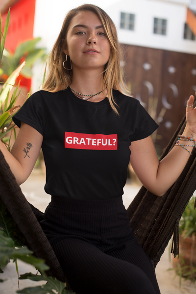 Women's Grateful Black T-shirt