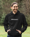 Men's Black Grateful Question Hoodie