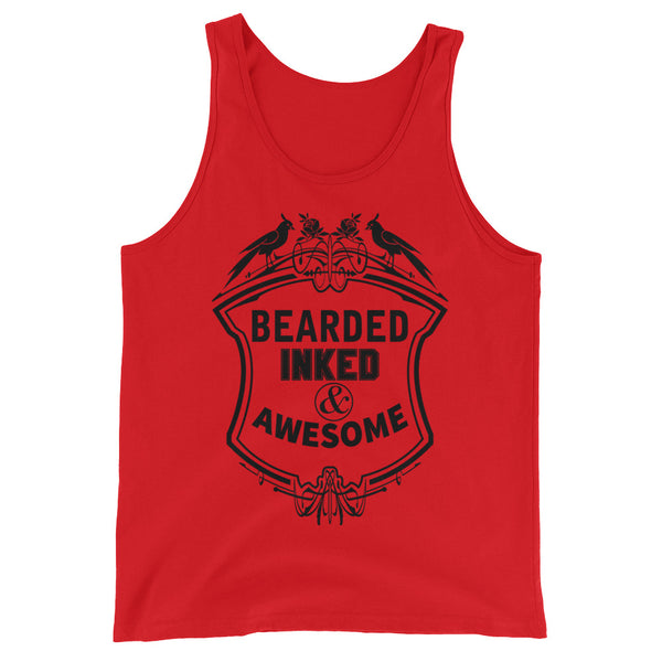 Bearded Inked & Awesome Tank Top