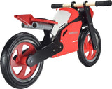 Superbike Wooden Balance Bike - Red & White