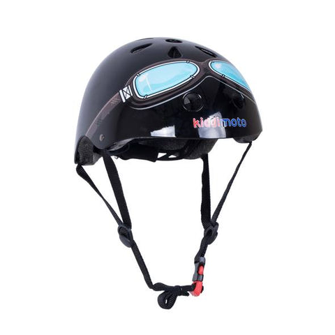 Black Goggle Bicycle Helmet