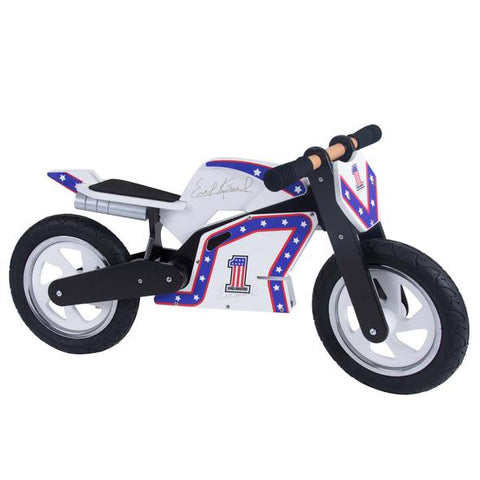 Evel Knievel Replica Wooden Balance Bike